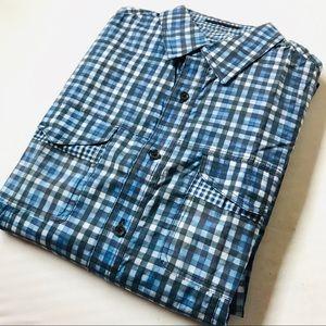 Elie Tahari Men's Button Down Checkered Shirt
